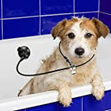 Dog Bathing Suction Cup Tether - Leash with Collar Keeps Dog in Bathtub or Shower - Any Size Dog