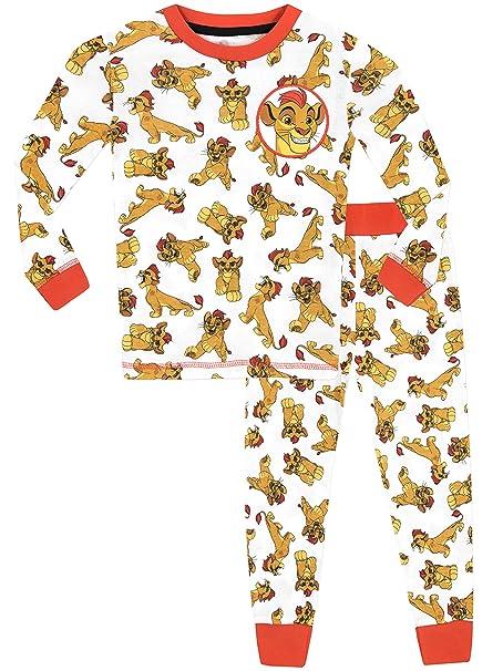Disney La Garde du Roi Lion - Pijama para Niños - Lion Guard Kion - Ajuste