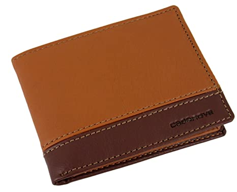 GENUINE Leather Soft Luxury Real Mens wallet ID Credit Card Holder GIFT BOXED