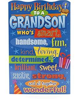 Grandson Birthday Card Funny