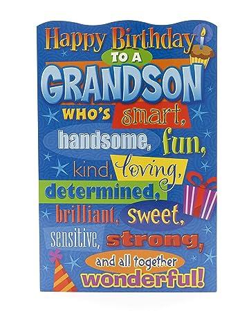 Amazon.com: Feliz Cumpleaños de Nieto, tarjeta de ...