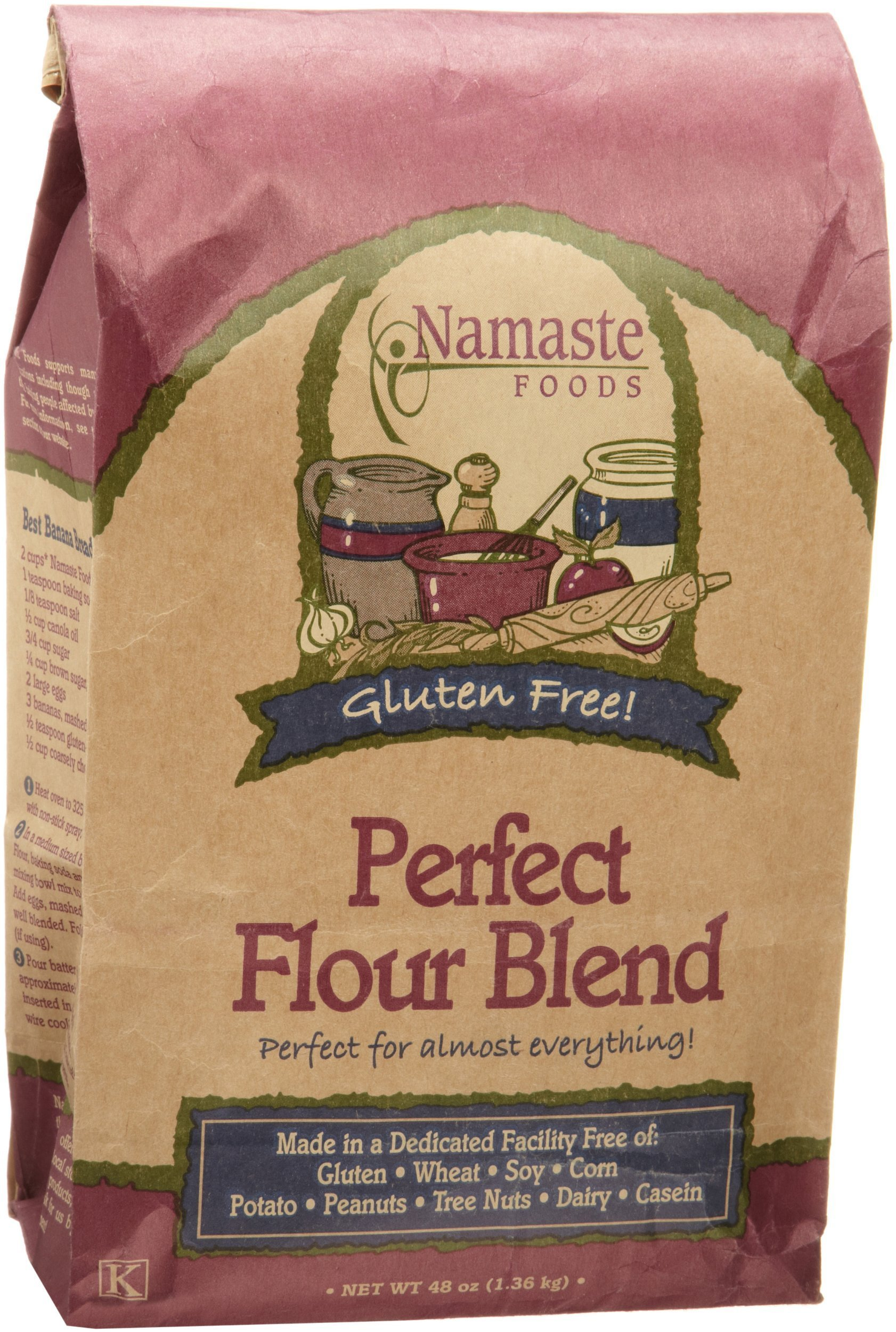 Namaste Foods, Gluten Free Perfect Flour Blend, 48-Ounce Bags (Pack of 6) by Namaste Foods (Image #2)
