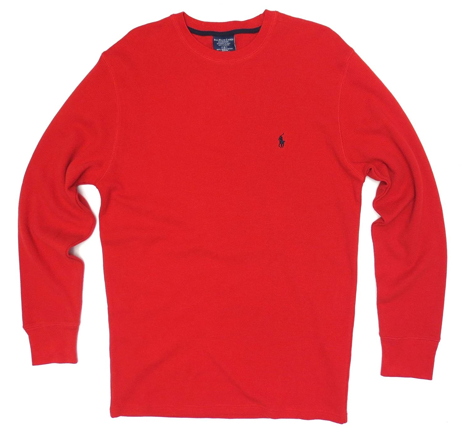 189ecf26 Polo Ralph Lauren Mens Long-sleeved T-shirt / Sleepwear (X-Large, Red/Navy  Blue Pony) | Amazon.com