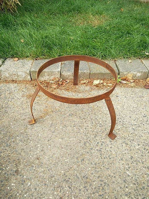 Zen Man - Soporte para brasero de jardín (Metal Oxidado, diámetro 35 cm): Amazon.es: Jardín