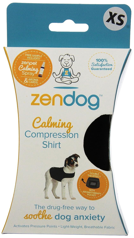 Contech ZenDog Calming Compression Dog Shirt, X-Small, Black