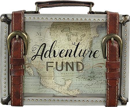 Wooden Travel Savings Adventure Fund Suitcase Bank