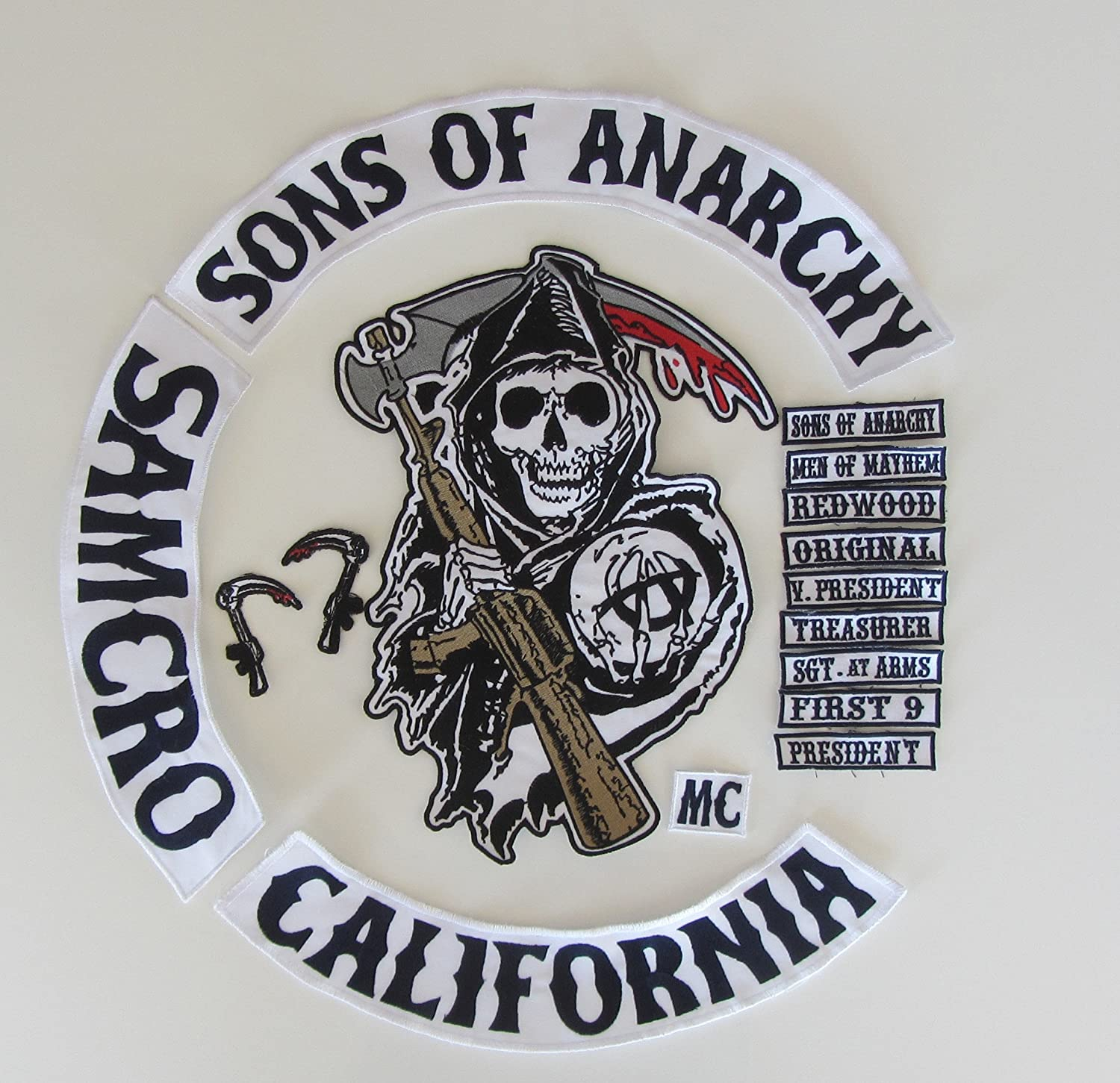 Kit patch Sons of Anarchy 16 pi/èces
