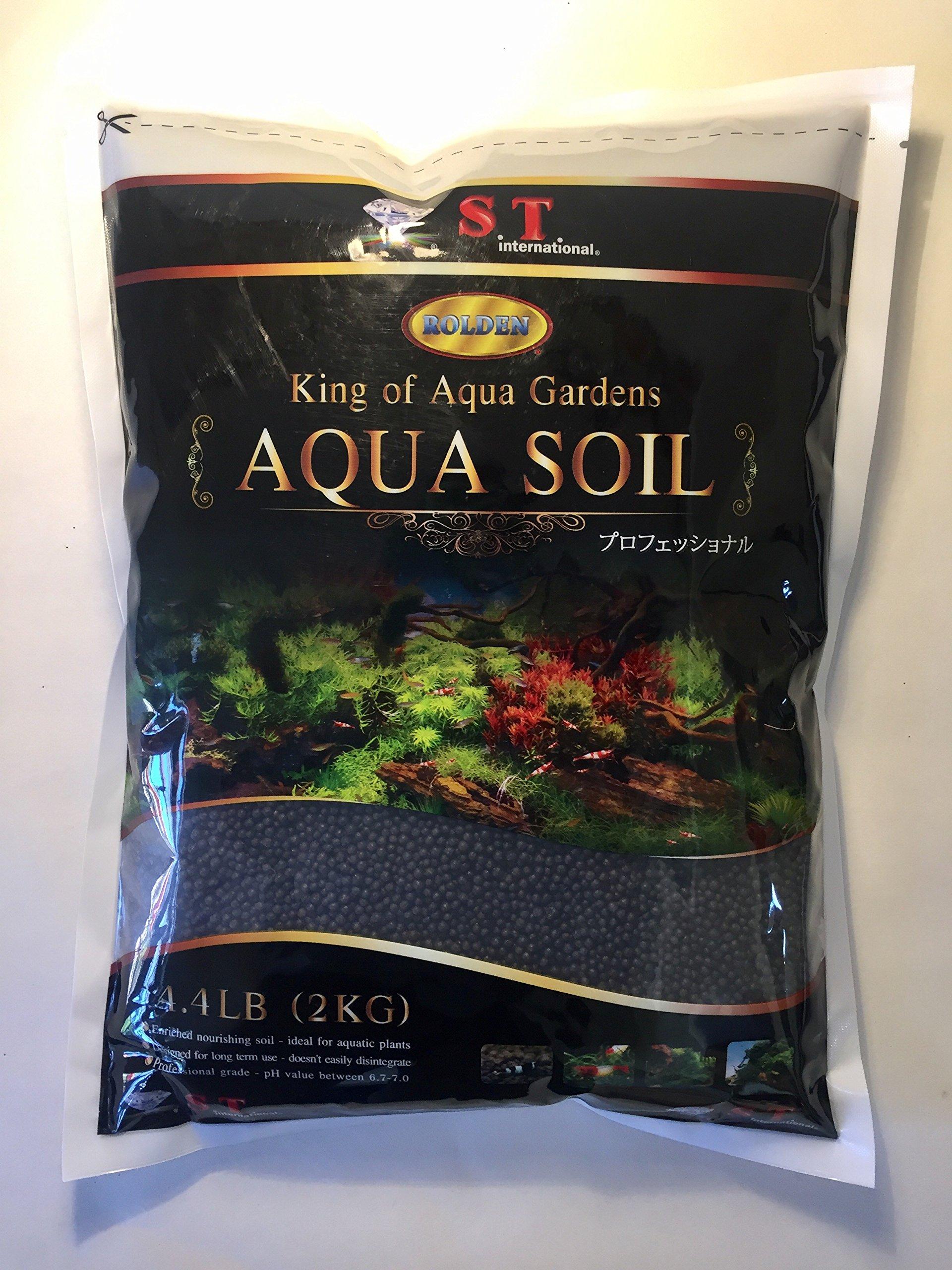 S.T. International Aqua Soil for Aquarium Plants, 4lb, Black by S.T. International