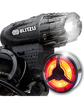BLITZU Gator 320 PRO USB Rechargeable Bike Light Set Powerful Lumen Bicycle Headlight Free Tail Light