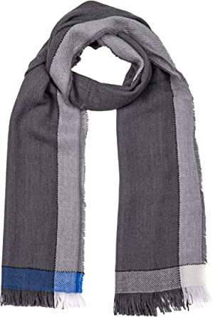 Blue GIULIA BIONDI 100/% made in Italy Wool Cashmere Scarf Shawl Wrap Stole Natural Colors Long Large Warm Soft for Women and Men