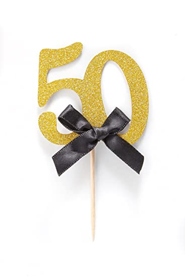 50th Birthday Party Cupcake Topper 12 Pack Number Quot50quot Toppers