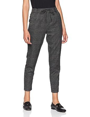 2537b956477a79 ONLY NOS Damen Hose Onlpoptrash Soft Check Pant Noos, Grau (Black Checks:  Cloud