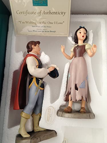 WDCC Snow white Prince Charming Wishing for the One I Love