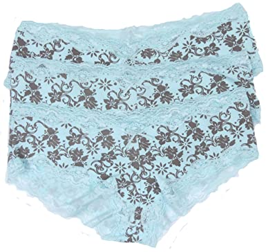 a88dc02f03 Ex-Store Ladies Briefs Pants French Knickers 3 Pack Or 6 Pack Pink Or Aqua  Size 10-14  Amazon.co.uk  Clothing