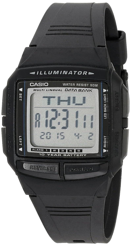 Casio DB36–1AV multilingüe del Hombre Banco de Datos Reloj