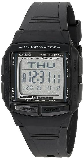 Casio DB36 – 1 AV multilingüe del hombre banco de datos Reloj