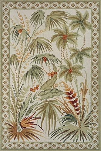 Momeni Rugs Spencer Collection, 100 Wool Hand Hooked Traditional Area Rug, 5 x 8 , Sage