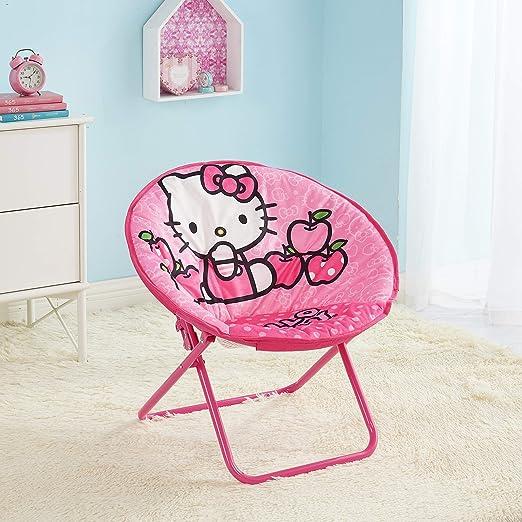 Silla Plegable de Hello Kitty Muy Adorable, Duradera