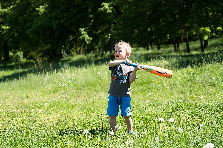 1 Palla per Bambini e Famiglia Schildkr/öt Colori Assortiti Set da Baseball in Neoprene 1 Mazza da Baseball Morbida con Rivestimento in Neoprene