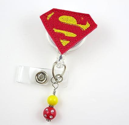 32a296f3e1c3 Amazon.com   Super Hero - Nurse Badge Reel - Retractable ID Badge ...