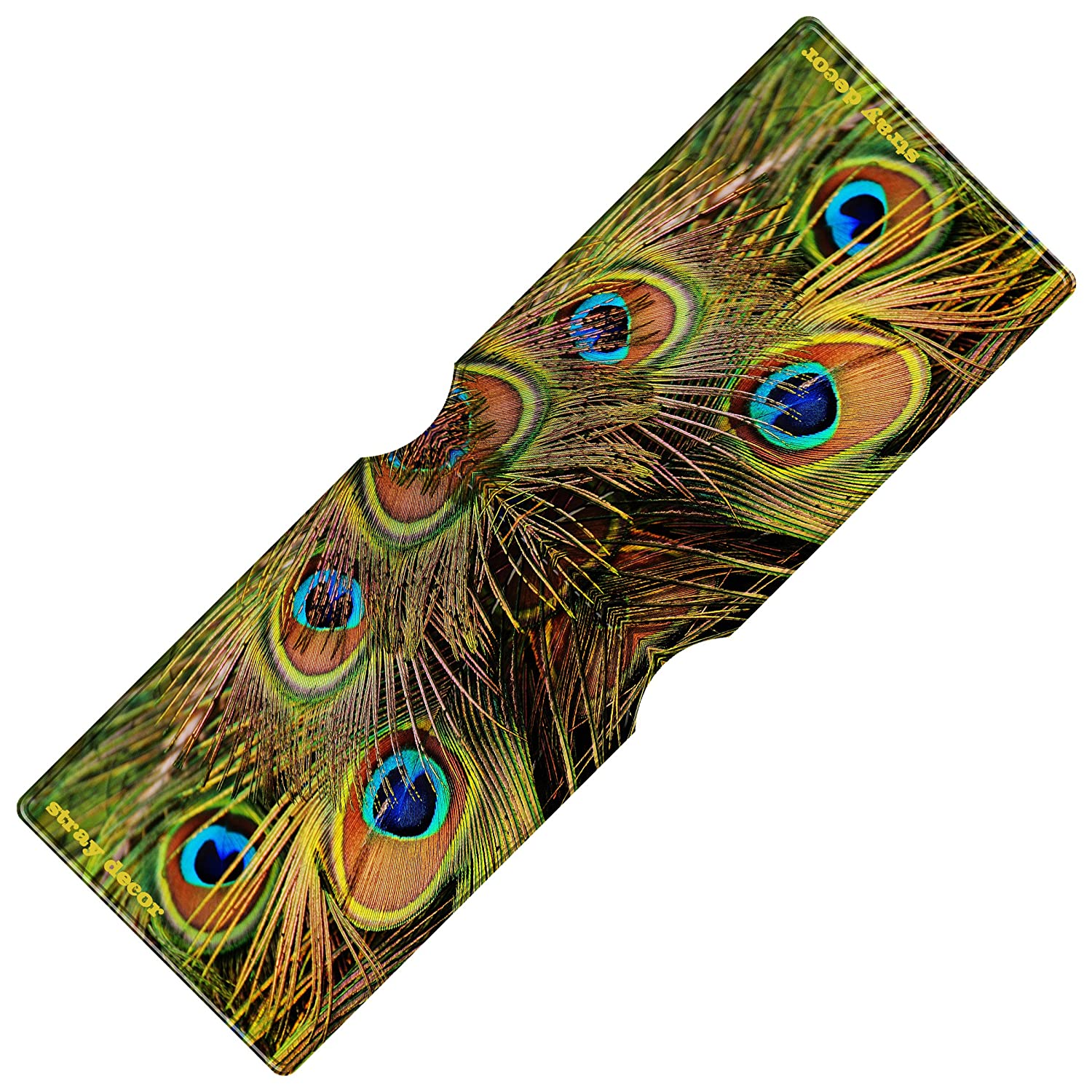 Stray Decor Peacock Feathers Credit or Oyster Card Holder Bus Pass Wallet // Travel