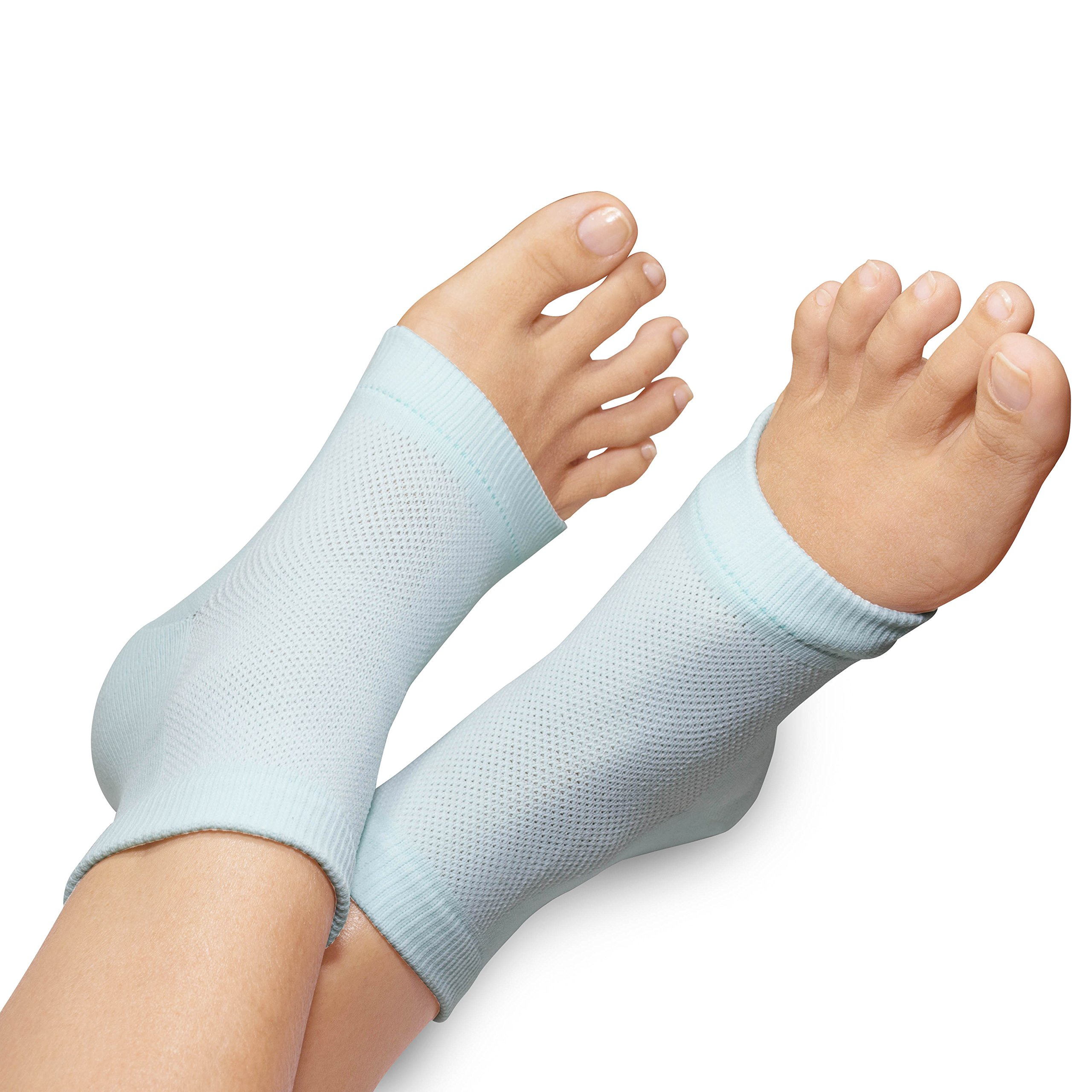 3 PAIRS-Moisturizing Gel Heel Socks w/ Enriched Vitamins for Dry Hard Cracked Heels & DIY Simple Home Remedies by Triim Fitness by Triim Fitness (Image #7)