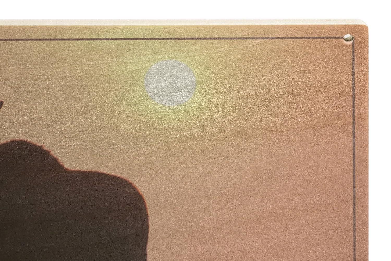 Amazon.com: Alaska - Moose Silhouette (10x15 Wood Wall Sign, Wall ...