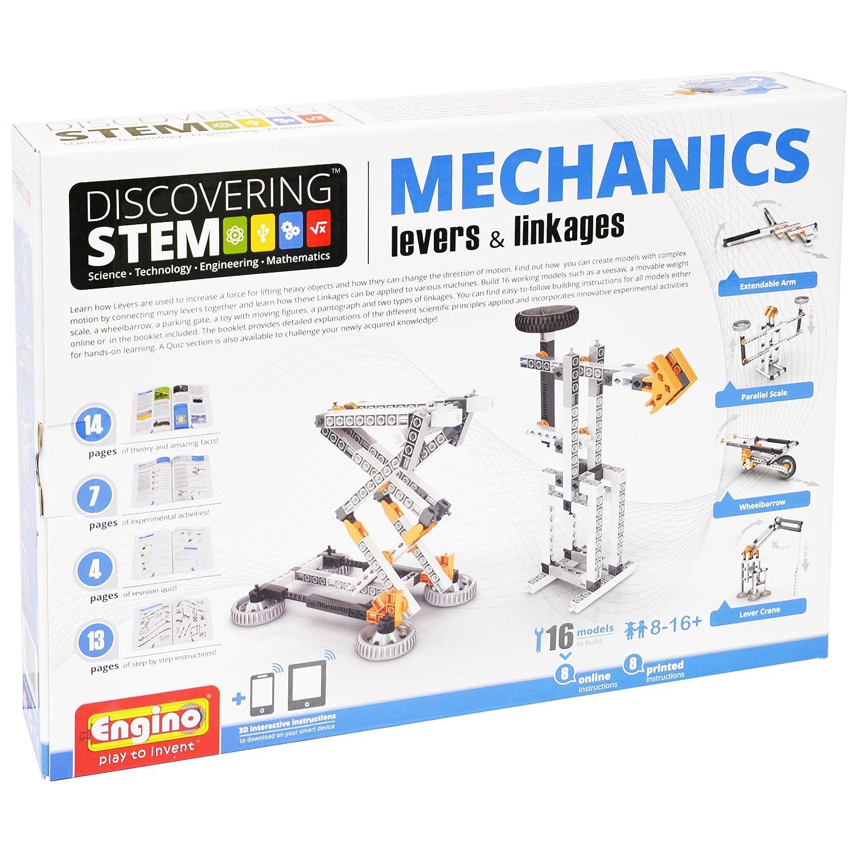 Engino Discovering Stem Mechanics Levers & Linkages Building Kit (106 Piece)