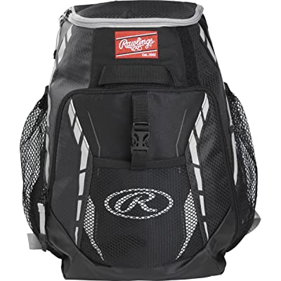 Rawlings R400 Youth Players Team Equipment Backpack, Black : Sports & Outdoors