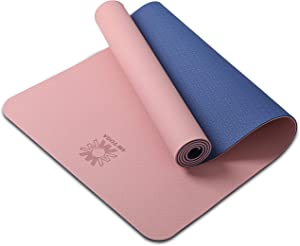 """WWWW PIDO Yoga Mat Eco Friendly TPE Non Slip Yoga Mats by SGS Certified with Carrying Strap,72""""x24"""" Extra Thick 1/4"""" for Yoga Pilates Fitness Exercise Mat"""