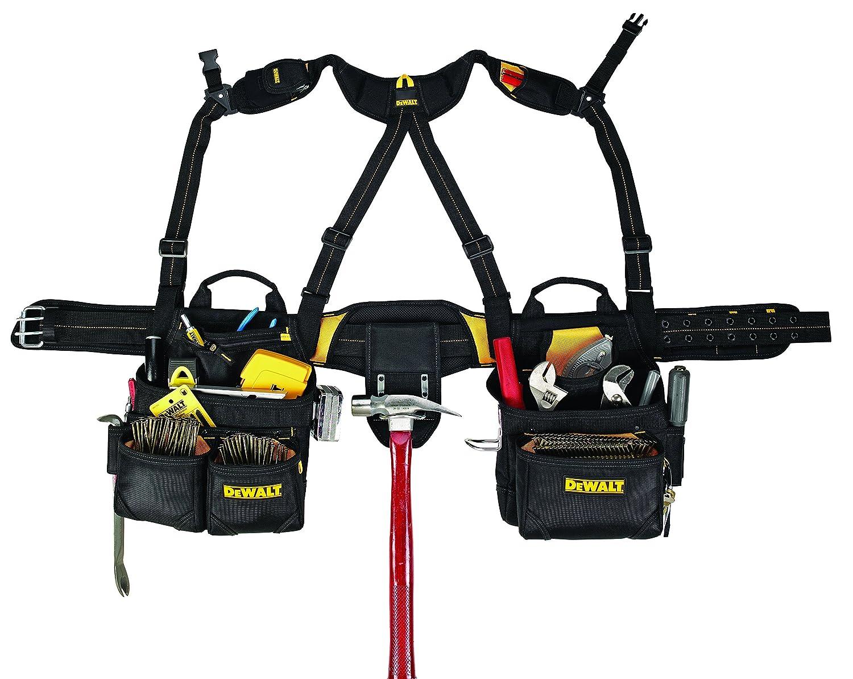 dewalt dg5617 20 pocket pro framers combo apron tool belt and yoke style suspenders tool aprons amazoncom