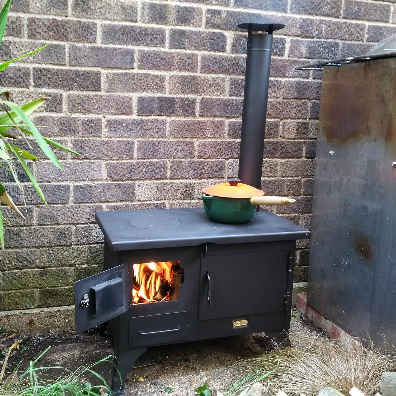 Cocina a leña de Garden; chimenea, horno, capota, 5 kw: Amazon.es: Bricolaje y herramientas