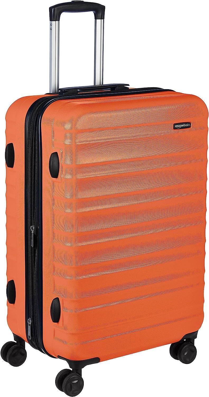 AmazonBasics -  Maleta de viaje rígidaa giratoria - 68 cm, Naranja fuerte