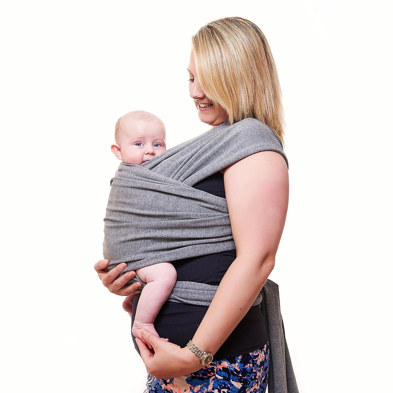 Prima del portador de bebé | Gris Neutro | Un tamaño para todos | Acogedor y relajante para bebés | Adecuado para recién nacidos, bebés y niños pequeños ...