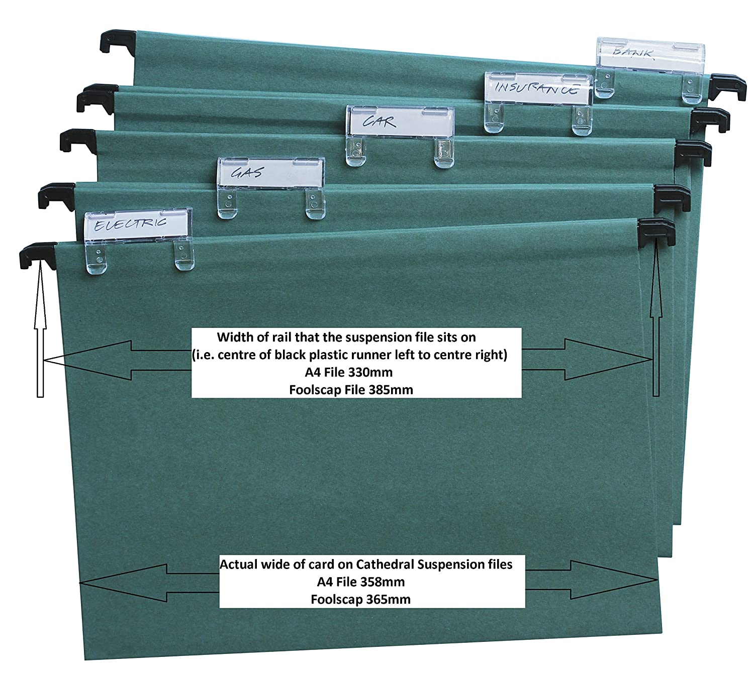 Cathedral Suspension S A4 20Pk  Green Amazoncouk Office Products