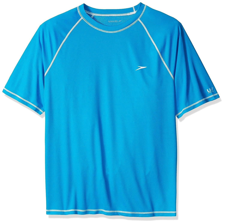 Speedo Men's Plus-Size Easy Short Sleeve Swim Tee Extended Sizes Speedo Men' s and Women' s Swimwear 482178E