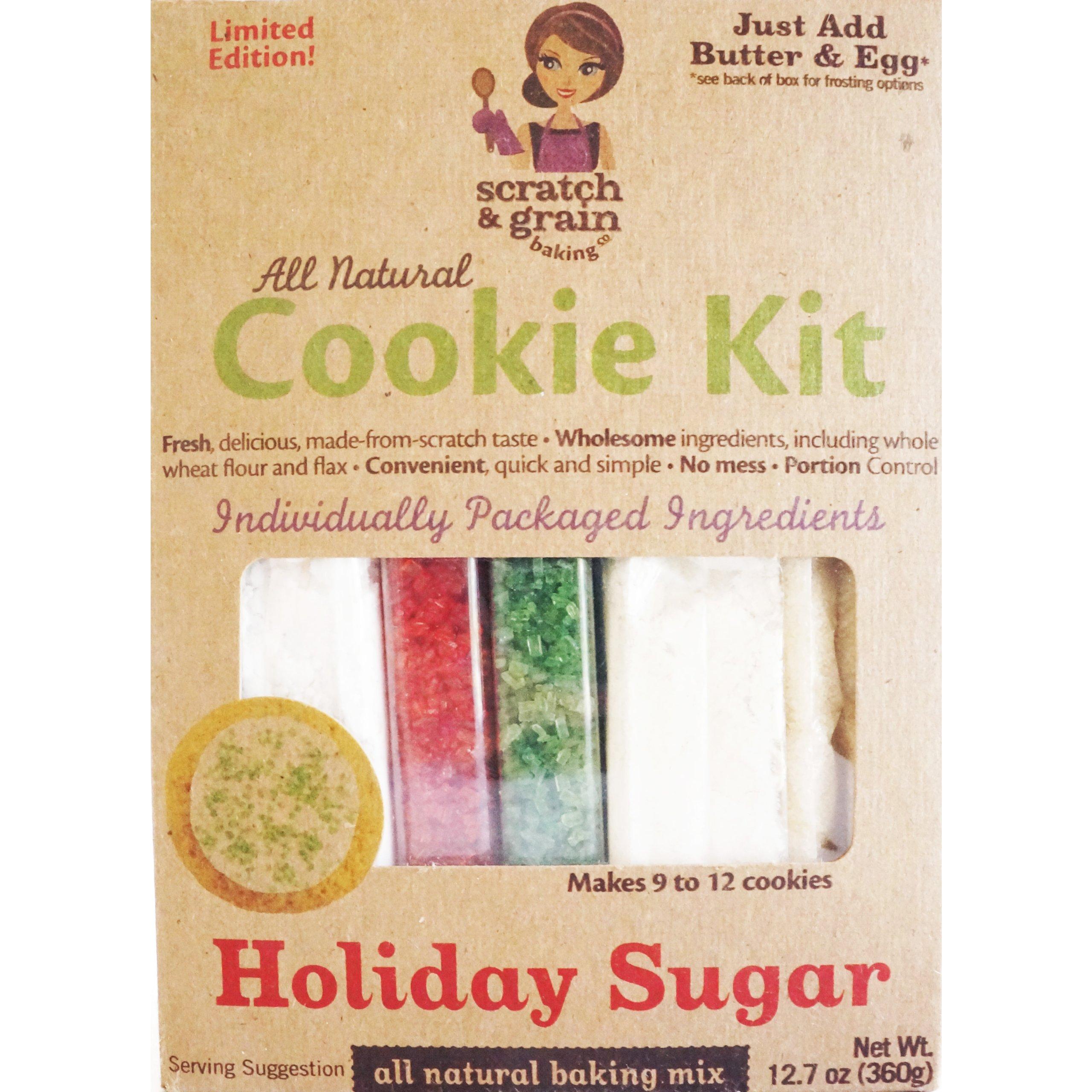 Scratch & Grain Baking Company Organic Holiday Sugar Cookie Kit