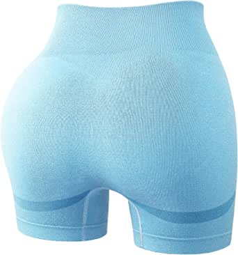 Nother Vigorics Seamless Yoga Tummy Control Booty Shorts for Women Butt Lifting Textured Biker Leggings