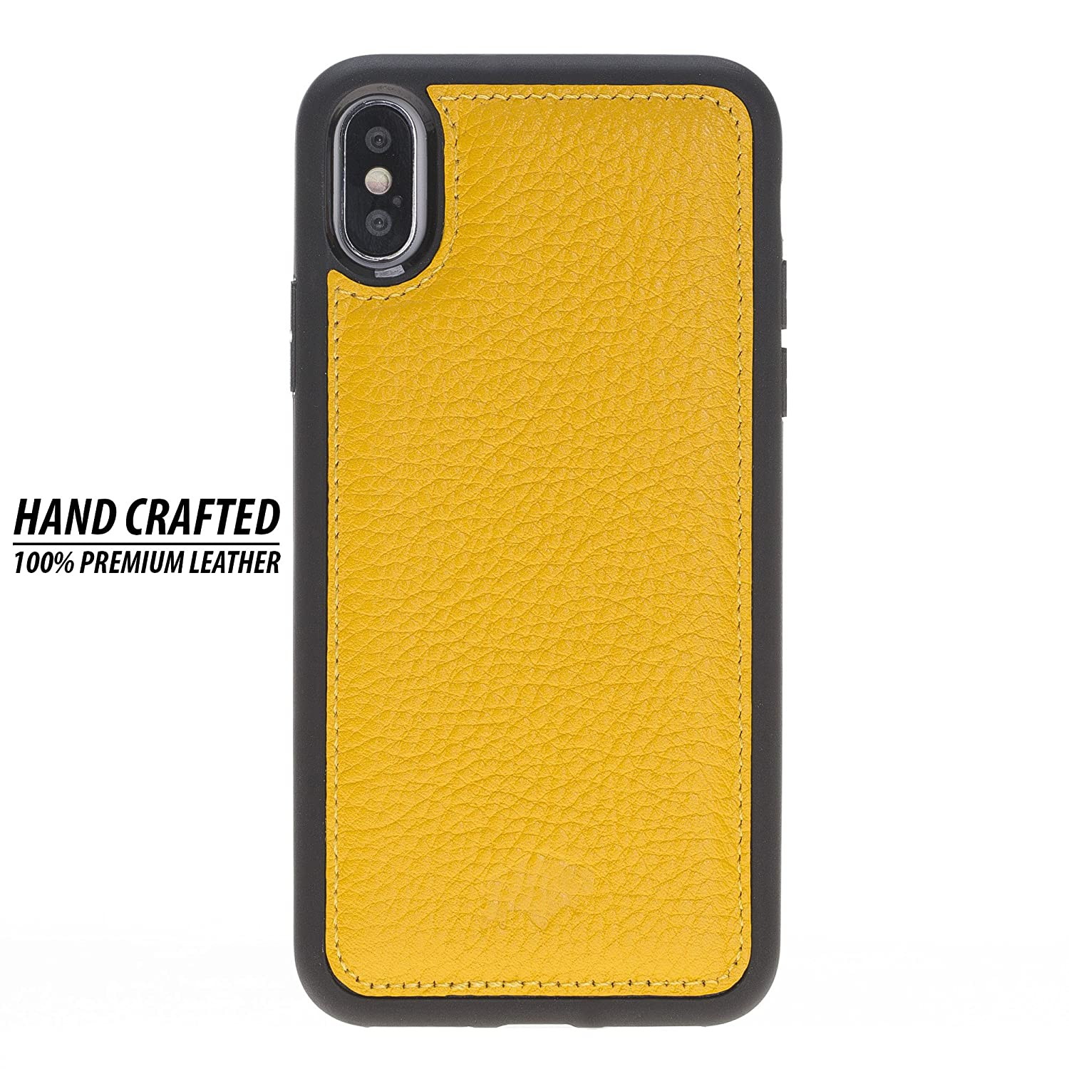 iPhone X/XS Leather 360 Degree Snap-on Case, Slim & Lightweight Flex Back  Cover with Drop & Screen Protection, Hand-Wrapped in Premium Turkish  Leather