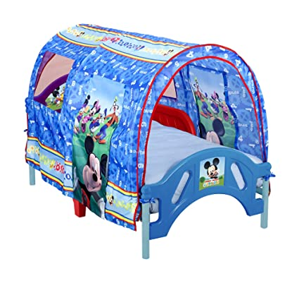 Delta Enterprise Mickey Mouse Toddler Tent Bed  sc 1 st  Amazon.com : mickey play tent - memphite.com