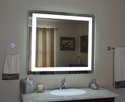 Led Backlit Mirror With Border Amazonin Home Kitchen
