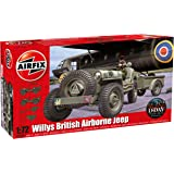 Airfix 1:72 Scale Willys Jeep/ Trailer and 6PDR Gun Model Kit