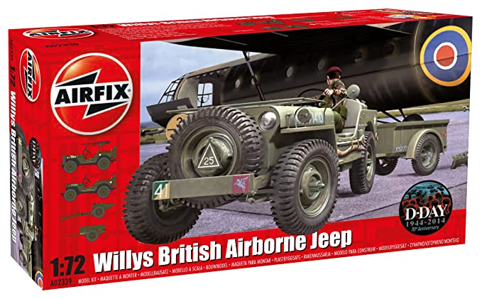 Amazon Com Airfix 1 72 Willys British Airborne Jeep Kit Toys