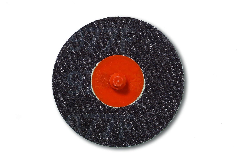 3M Roloc Disc 977F TR Attachment 3 Diameter Ceramic Aluminum Oxide 60 Grit Pack of 50 3 Diameter