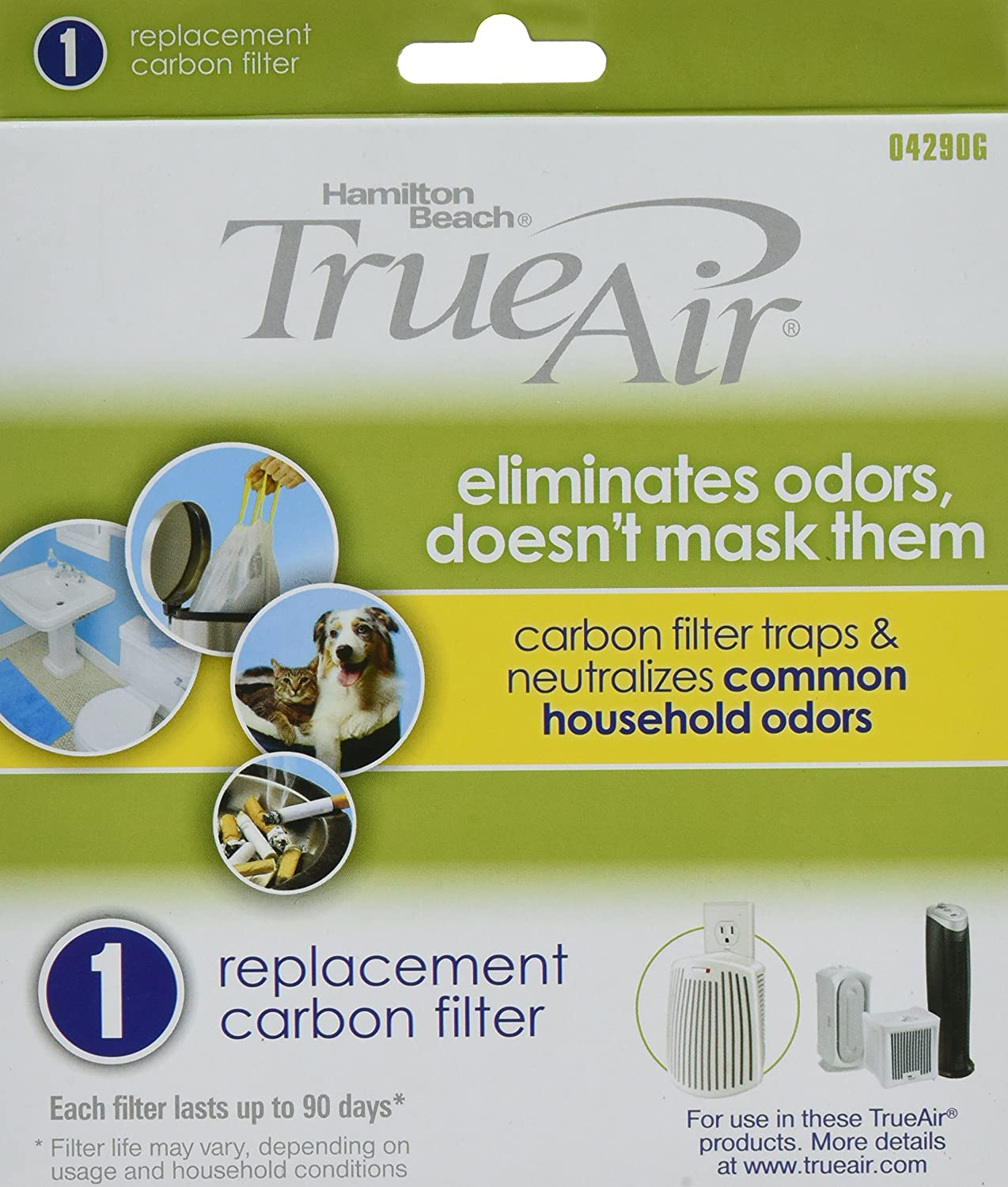 Amazon.com: Hamilton Beach Replacement Carbon Filter. Works with TrueAir  04384, 04386, 04532, 04532GM, & 04530 (04290G): Home & Kitchen