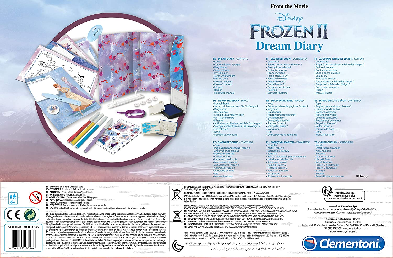 18518 Clementoni Frozen 2 Diario Frozen 2