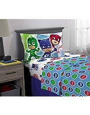 PJ Masks Juego de sábanas de Microfibra Supersuave para niños, Multicolor, 3 Piece Twin Size, 1, 1