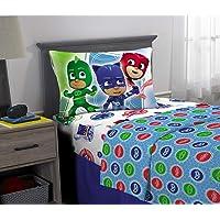 PJ Masks Juego de sábanas de Microfibra Supersuave para niños