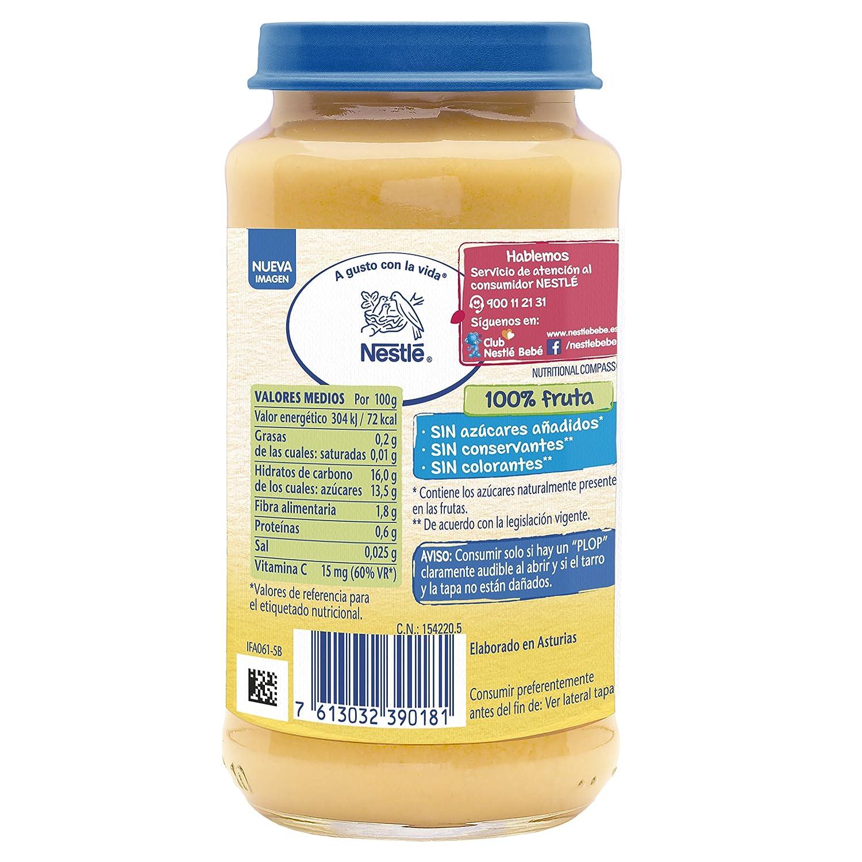 Nestlé Naturnes Alimento infantil, postre de frutas variadas - 250 gr: Amazon.es: Alimentación y bebidas