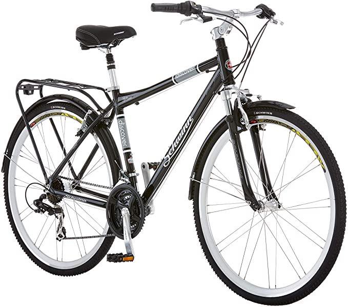 Amazon.com : Schwinn Discover Hybrid Bike for Men and Women, 21 Speed, 28-Inch Wheels, Step-Through or Step-Over Frame, Multiple Colors : Grocery & Gourmet Food